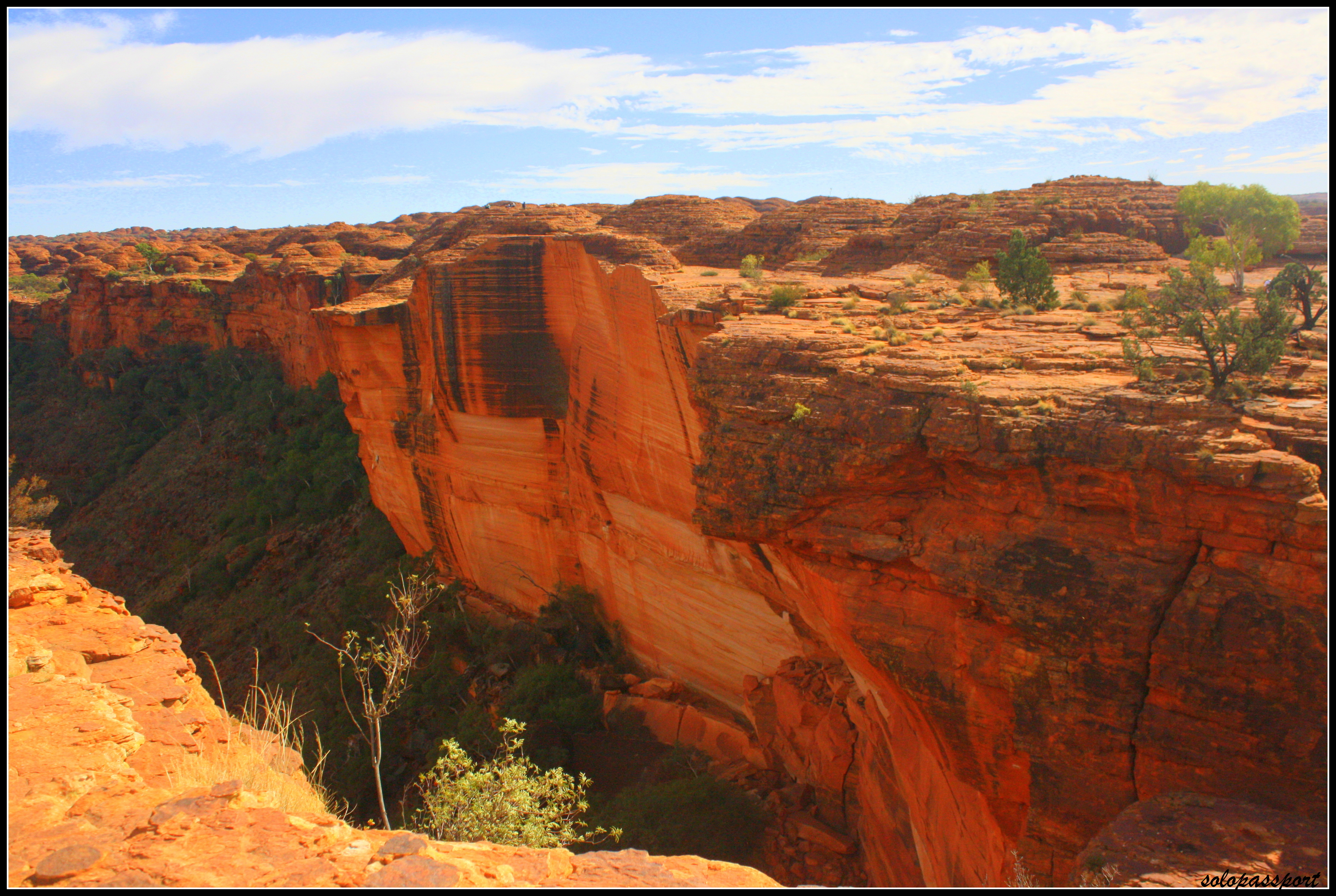 The red rocky walls – Kings Canyon it is!